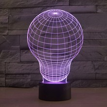 Creative Gifts Lamp 3D Lights Robot USB Led Table Desk Lampara Home Decor Reading Nightlight