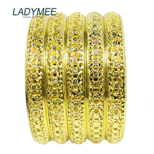 Bracelet Bangles Indian Jewelry Gold Metal Bracelets for Women Fashion Gold Bangles Wholesale 5PCS/LOT DIY Jewelry Pulsera Gift