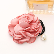 2017 Sale Hot Sale Trendy Hairbands Womens Girls Handmade Flower Beaded For Ponytail Holder Elastic Hair Band Accessories
