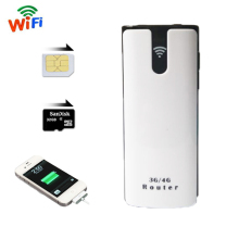 3G Wifi Router With Sim Card Slot Mini Mifi Wireless Outdoor Portable Mobile repetidor Hotspot Unlocked Wi Fi Modem Power Bank(China)