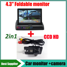 2in1  Car monitor display + Car rear view reverse backup camera For Great wall Hover H3 H5 H6 parking auto kit