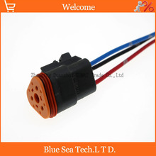 Sample,5 PCS Deutsch DT06-3S 3Pin Engine/Gearbox waterproof electrical connector with cable for car,bus,motor,truck etc.