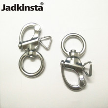 Jadkinsta 10PCS Stainless Steel 316 Polished Swivel Snap Shackle for Camera Strap Bag Marine Hardware Accessories(China)