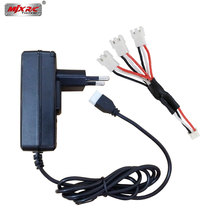 Buy MJX Bugs 3 RC Helicopter spare parts EU/US Charging plug lipo battery charger Units 3in1 cable MJX B3 Drone accessories for $5.29 in AliExpress store