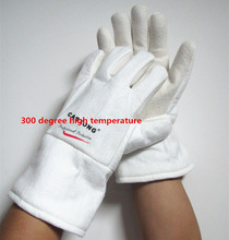 ST-1534 protective gloves 300 degree industrial heating gloves high temperature fire Gloves(China)