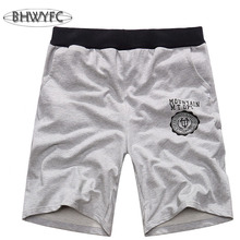 BHWYFC Brand Running Short Men Sports Shorts Short Men Cotton Comfortable Breathable Training Short Oversized Code 4XL 5XL(China)