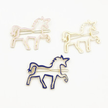 Timlee H003 Free shipping Unicorn Horse Hair Clip Barrettes Girls Lovely Hair Accessary Gift TLW