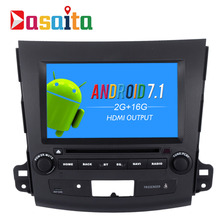 "Dasaita 8"" Android 7.1 Car GPS Player Navi for Mitsubishi Outlander 2007 with 2G+16 Quad Core No DVD Auto Radio Multimedia HDMI(China)"