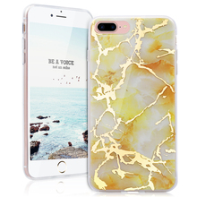 3D Marble Design Printed Soft TPU Cases For Iphone 7 plus Case Ultra Thin Anti-Scratch Shock Proof Dust Proof Anti-Finger Cover