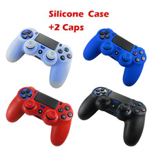 Rubber Silicone Gel Joystick Thumb Sticker Analog Grips Cap Gamepad Joypad Cover Case For Sony Dualshock 4 PS4 Controller Skin