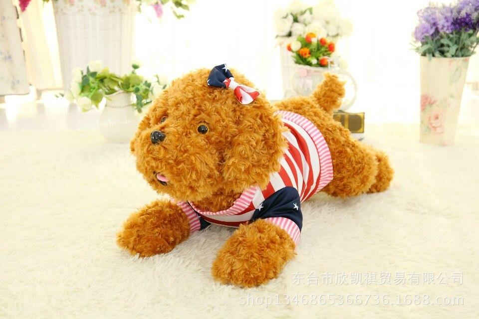 cute prone teddy dog plush toy bowtie on the head,beautiful dress girl dog toy,Valentines Day present, birthday gift w5433<br><br>Aliexpress