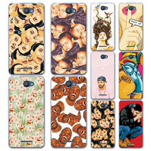 "New Arrival Cartoon Grid & Expression Painted Case Cover For BQ U Lite 5.0"" Fundas Capa for BQ Aquaris U / U Lite Phone Case"