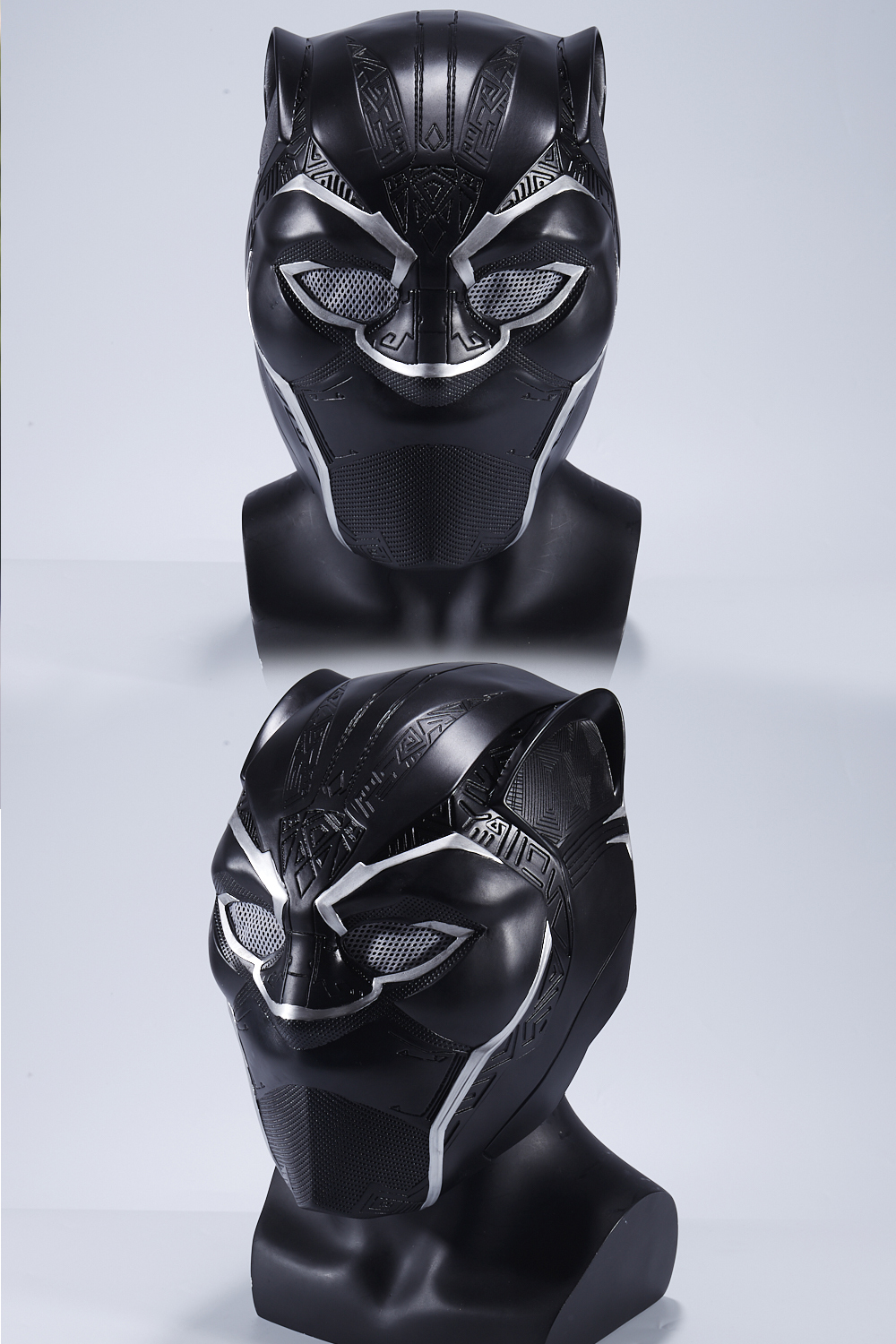 New Year Captain America Civil War T'Challa Black Panther Wakanda Cosplay Mask Black Helmet Carnival Party Mask For Adult 2018 (3)