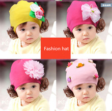 New Korean version of the head cap baby child wig hat Mother's Day gift