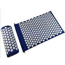 Acupressure Mat & PillowRelieve back pain neck pain Stimulate trigger points headache reliever sleep aid & stress management(China)