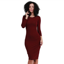 Buy Plus Size Autumn Women Clothing Cotton Long Tshirt Dress 2016 Black Wine Red Army Green Sheath Office Dress Sexy Party Dresses for $12.57 in AliExpress store