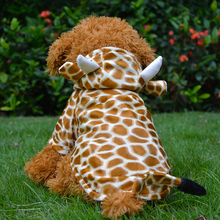 Brand 100% High Quality Cotton Giraffe Pattern Warm Coat Pet Clothes for Dogs