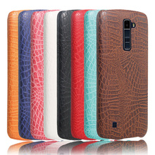PU Leather Case For LG K10 LGK10 (2016 year) Hard Protective Shell Back Cover Fashion Alligator Pattern Shock Proof New(China)