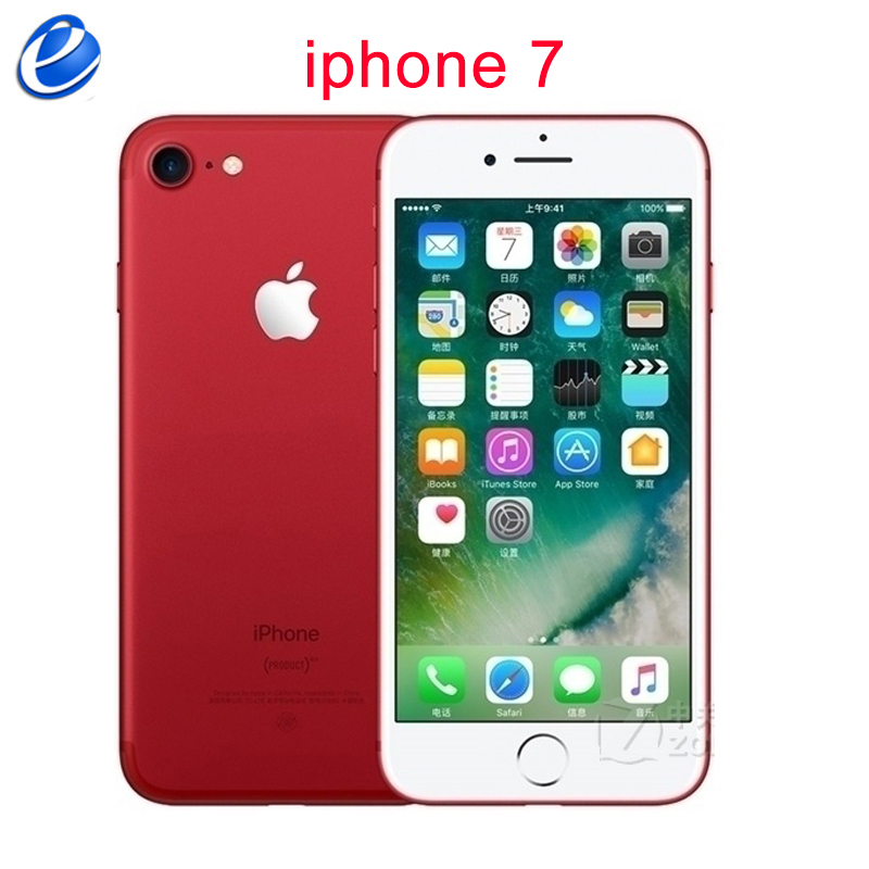 Apple iPhone 7 Original 256GB 32gb Fingerprint Recognition 12mp Used LTE IOS 4G Quad-Core title=