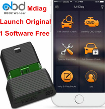 100% Original Launch M-diag Lite Plus OBD2 Diagnostic Scanner One Software Free Mdiag Scan Tool For Android IOS Update Online