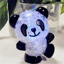 Christmas Gift Quality 3D Crystal Puzzle Jigsaw Model Diy Panda Intellectual Toy Gift Furnish Gadget Children's Educational Toys
