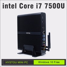 hystou i7 7500U mini pc windows 10 gigabit lan intel hd graphics 620 fanless design minipc i7 CE&FCC&Rosh pc gaming htpc windows(China)