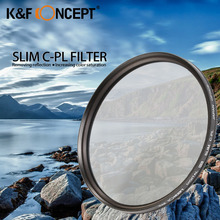 K&F CONCEPT 67mm Super Slim Circular Polariser CPL Lens Filter Fit For Canon/For Nikon Camera Cleaning Cloth free shipping