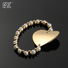 R&X New stainless steel bracelet Joker love pearl pendant bracelet Europe and the United States sell like hot cakes style