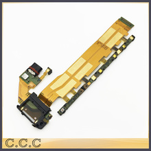 Original For Sony Xperia Z4 Z3+ Z3 Plus E6553 E6533 main power on off volume flex cable with usb charging dock port