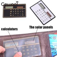 Cewaal Convenient Portable Handheld Pocket Mini 8 Bits Calculator Super Thin Solar Power Panel Home Decoration Solar Cell Board(China)