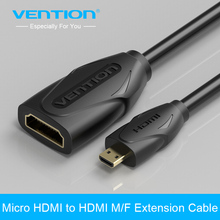 Vention High Premium Micro HDMI to HDMI Cable 1m Male to Female Micro HDMI Extension Cable Extend for Tablet HDTV Camera