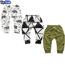 2017 New Spring and Autumn Lovely Children Character Cotton Striped Pants Newborn Boy Children's Clothing Children's Pants CP181(China)