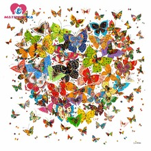 Diamond embroidery butterfly for heart Pictures of crystals Diamond mosaic sale 5d diy diamond painting Mosaic drawings drill(China)
