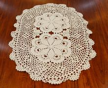 HOT Lace cotton table mat cloth kitchen tableware round crochet Placemat happy Table place mat Doily Cup mug holder Coaster Pad