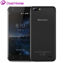 In stock!Blackview A7 Dual back lens Google Android 7.0 MT6580A Quad Core 1.3Ghz Mobile Phone 1GB+8GB Unlocked Cell Phone(China)