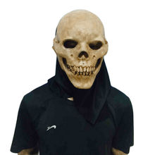Horrifying Skull Monster Adult Latex Masks Full Head Masquerade Fancy Dress Party Cosplay Costume Scary Mask For Halloween Party(China)