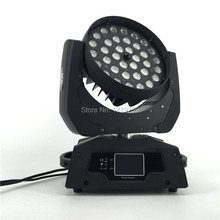 3 pcs/lot LED Moving Head Wash Light LED Zoom Wash 36x18W RGBWA+UV Color DMX Stage Moving Heads Wash Touch Screen
