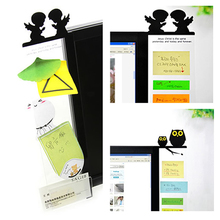 OOTDTY Sticky Note Holder Cute OWL / Angel Computer Monitor Screen Memo Post-it Board New(China)