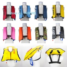 1pc Manual hand inflatable life jacket fishing buoy vest diving boat vessel yacht CE 150N buoyancy bath Towel Ring(China)