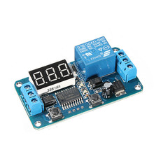 New Electric Unit High quality DC 12V LED Display Digital Delay Timer Control Switch Module PLC Home Automation 6.5x3.5cm(China)