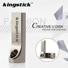 Kingstick high quality thumbdrive Mini key USB Flash Drive 64GB metal pen drive 4GB 8GB 16GB 32GB memory stick flash drive(China)