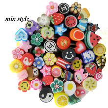 Free Shipping 10pack 3D Designs Fimo Canes Rods Nail Stickers New Arrival Cute Fashion Polymer Clay Nails Design Decorations DIY