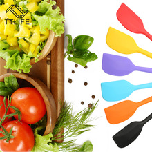 TTLIFE Colorful Integrated High Temperature Resistance Silicone Spatula Baking Rubber Scraper(China)