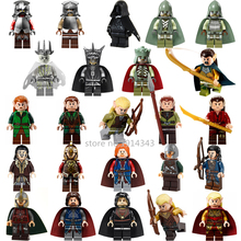 24Pcs/lot Lord of the Rings The Hobbit Rohan Elrond Building Blocks sets Bricks Figures Toys Legoes Compatible for Children