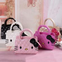 New designers mini cute bag children hello kitty Bowknot handbag kids tote girls Shoulder Bag mini bag wholesale(China)