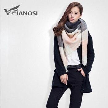 [ Vianosi ] moda inverno de malha da manta Scarf Patchwork quente Cachecol Feminino xales marca VS055