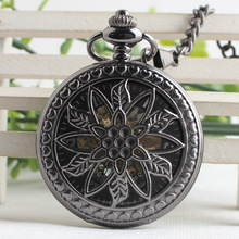 Retro High-grade Mechanical Pocket Watch Nostalgia Tungsten Steel Clamshell Classic Male Ladies Watch 3JX120(China)