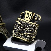 ZORRO Brand engraving Dragon metal oil lighter,Men Smoking cigarette gasoline lighter Collection of gifts(China)