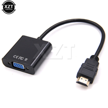 New HDMI VGA Video adaptor Male to Female HDTV CRT Monitor TV for XBOX 360 PS3 HDMI to VGA 3.5mm plug Audio Cable Converter(China)