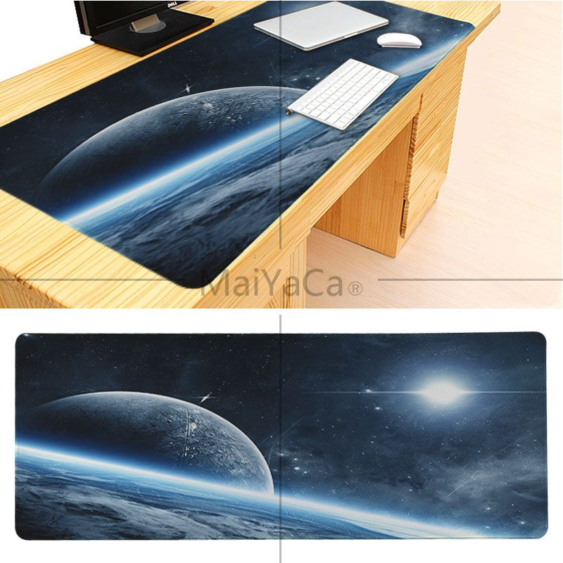 MaiYaCa Boy Gift Pad The Space Wallpaper Large Mouse pad PC Computer mat Good quality Locking Edge large Game Mouse Pad 8